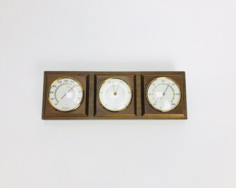 Vintage Weather station Weather barometer display rainfall rain Boho decoration