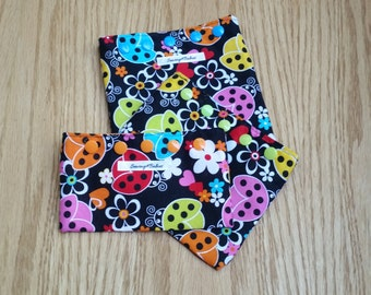 Ladybug Snack Bag - Reusable Snack Bags - Snack Baggie - Snack Pouch - Sandwich Bag - Fabric Snack Bag - Ladybug Bag - Goodie Bag - Handmade