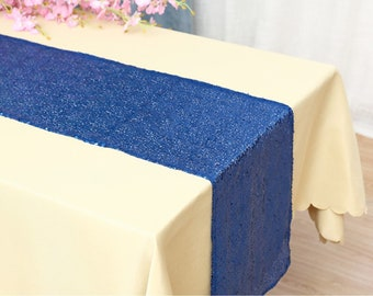 Pack of 5 Glitter Sequin Royal Blue Table Runners Engagement Wedding Banquet Ceremony Feast Birthday Anniversary Party Dining Table Decor