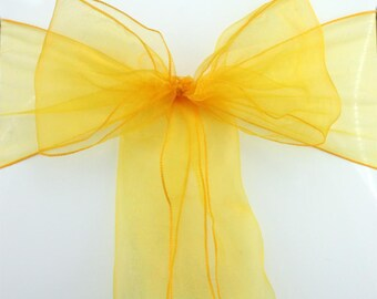 Yellow Buttercup Chair Sashes Chair Bow Tie Ribbon Wedding Engagement Birthday Anniversary Party Reception Ceremony Bouquet Chair Decoration