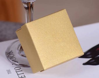 100x Pearl Gold Bomboniere Anniversary Favor Boxes Wedding Favour Birthday Party Gift Boxes Chocolate Candy Cookie Boxes Christmas  Gift Box