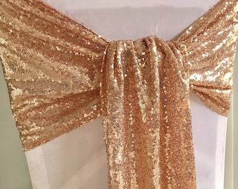 Rose Gold Chair Sash Etsy