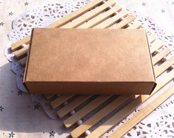 50x Natural Kraft Gift Boxes Thank You Boxes Invitation Boxes Business Card Post Card Boxes • Also Available in Black