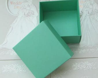30x Dark Mint Bomboniere Favour Boxes - Wedding & Party Gift Box - Chocolate Candy Cookie Box - Christmas Gift Box