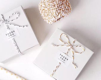 40x White Bomboniere Favor Boxes  Wedding Birthday Party Baby Shower Baptism Christening Gift Boxes Chocolate Candy Cookie Favour Boxes
