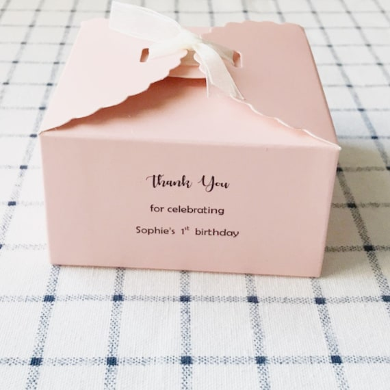 50 Pack Cute Pink Polka Dot 2 Square Favor Gift Boxes with Lid for Christening Girl Baby Shower Baptism Wedding Centerpiece Anniversary Birthday Decoration