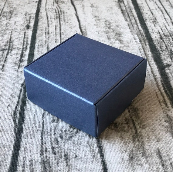 40x Pearly Navy Blue Gift Boxes Beach Wedding Favor Boxes Etsy