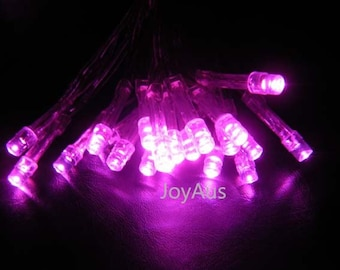 10m Pink Battery Operated Fairy Lights Led String Lights Wedding Engagement Event Birthday Party Reception Ceremony Home Decoration