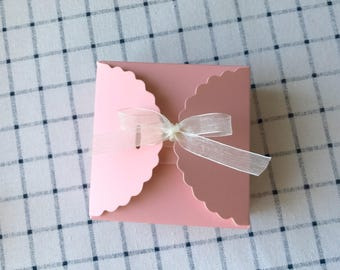 25x Pink Favour Boxes • Baby Shower Girl's Birthday Party Treat Sweets Bar Valentine's Day Easter Baptism Gift Boxes