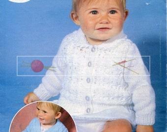 "Baby Cardigans 16-20"" DK Sirdar 3374 Vintage Knitting Pattern PDF instant download"