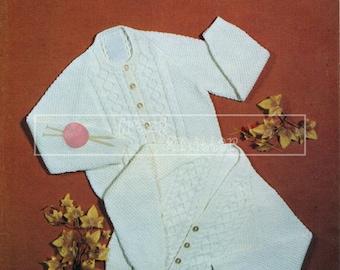 "Children's Raglan Cardigan 22-24"" 4-ply Sirdar 3188 Vintage Knitting Pattern PDF instant download"