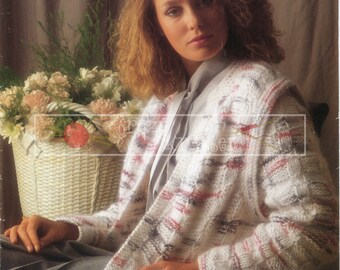 Lady's Jacket Chunky 32-40in Sirdar 6822 Vintage Knitting Pattern PDF instant download