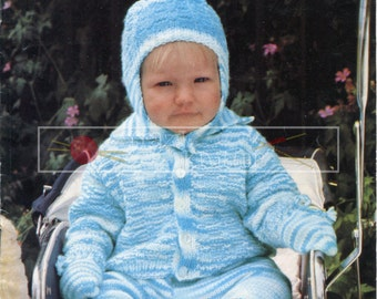 "Baby Pram Set DK 18-20"" Sirdar 3289 Vintage Knitting Pattern PDF instant download"