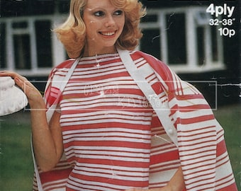 "Lady's Twin Set 32-38"" 4-ply Sirdar 5704 Vintage Knitting Pattern PDF instant download"