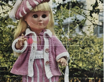 """Junior Miss Doll 4ply 14"""" and 17"""" Dolls Bestway 4006 Vintage Knitting Pattern PDF instant download"""