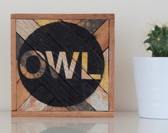 "6""x6"" ""Owl"" Stark & Steel Series #104 