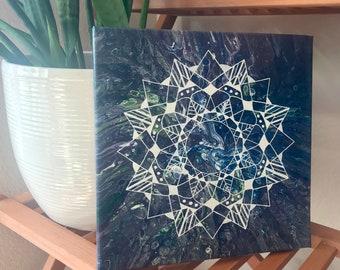 Geometric Mandala Acrylic Painting