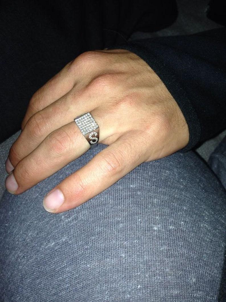 Fathers Day Ring design Men Accesories Free delivery 18k Men Signet Diamonds Ring 0.36 carat D-FVS2-Si1 Diamonds Signet 18k Yellow Gold