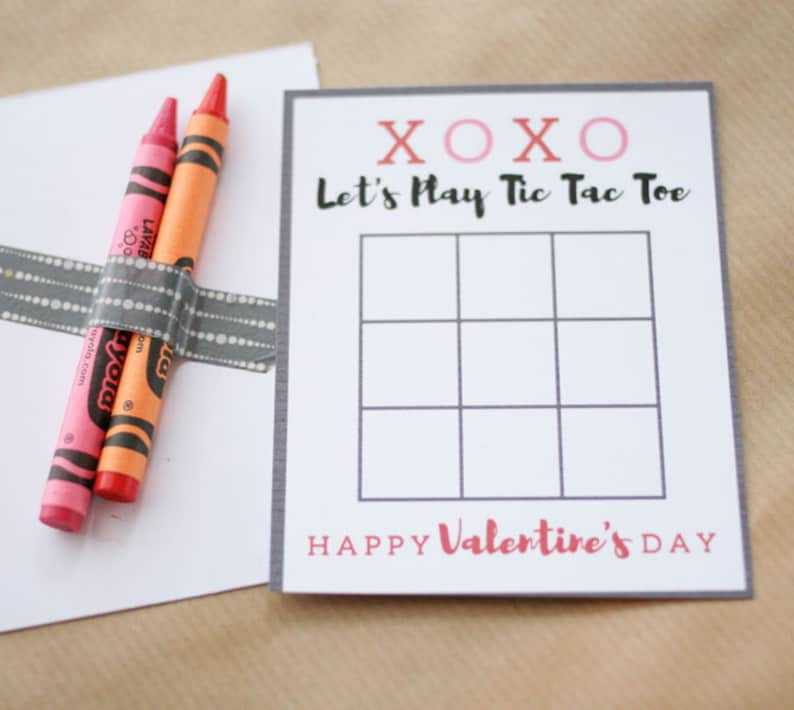 photo relating to Tic Tac Toe Valentine Printable named Tic Tac Toe Valentines Card, Printable Valentines Working day Playing cards, Crayon Valentine Playing cards, Non Sweet Valentine, Immediate Obtain