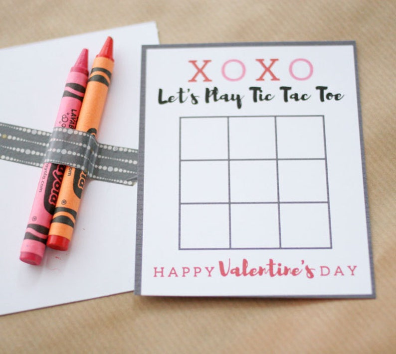 photo regarding Valentine Tic Tac Toe Printable named Tic Tac Toe Valentines Card, Printable Valentines Working day Playing cards, Crayon Valentine Playing cards, Non Sweet Valentine, Instantaneous Down load
