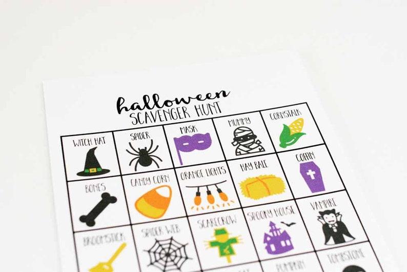 Halloween Scavenger Hunt for Kids Halloween Party Game image 0