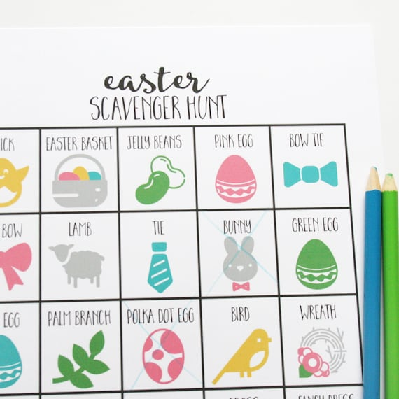 photograph relating to Printable Easter Games named Easter Scavenger Hunt Recreation, Printable Easter Game titles, Easter Routines for Small children, Easter Basket Stuffers, 8.5x11, Instantaneous Down load