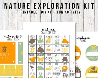 Nature Exploration Kit, Nature Explorer Kit, DIY Nature Kit, Nature Party, Nature Craft for Kids, Nature Scavenger Hunt, INSTANT DOWNLOAD