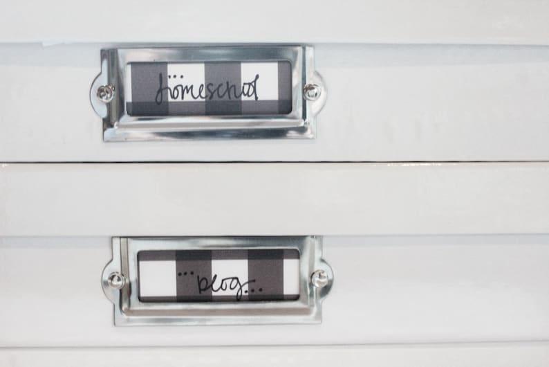 Blank Tags Home Organization Labels Buffalo Check Tags Blank Labels INSTANT DOWNLOAD Buffalo Check Labels Home Organization Tags