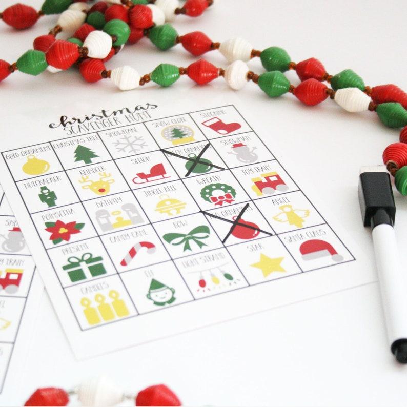 Christmas Party Game Christmas Scavenger Hunt Game for Kids image 0