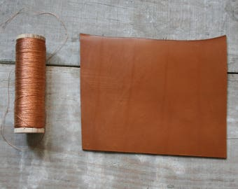 A6 size CAMEL leather