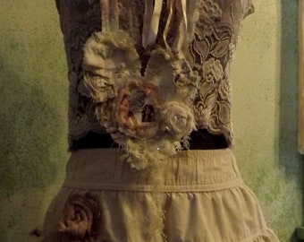 For His Eyes Only 3 Piece Shabby Couture Mori Girl Honeymoon Desination Wedding Ready to Ship