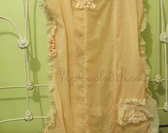 Cover It Up Bridal Gown Ready To Ship Bohemian Gypsy Chic Shabby Couture Art To Wear