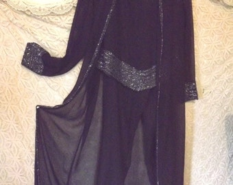 Steppin' Out  Vintage 3 Piece Pant Suit High Fashion Red Carpet Night
