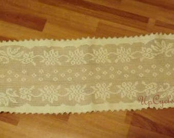 Vintage Lace Dresser Scarf Table Runner Farmhouse Collection Ships Free in USA Next Day