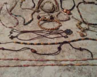Vintage Hemp and Beads 1970 Hippie Jewelry Ready to Ship