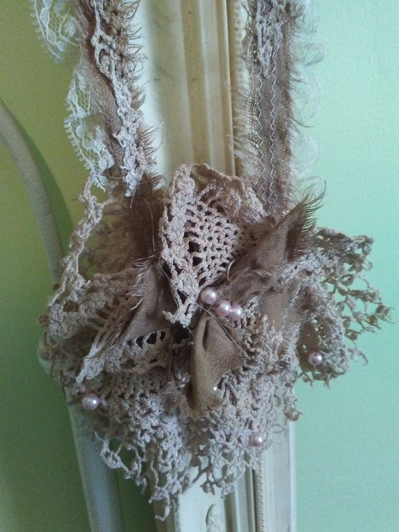 Ragg Bragg Couture Over the Head Neck Lace Shabby Chic Mori Girl Ready to Ship