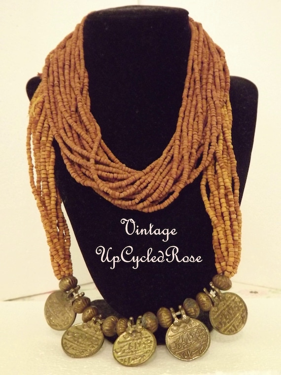 Vintage Beaded Necklace Set of 2 Unique Ready to Ship with FREE USA Shipping