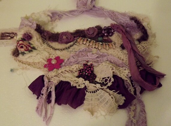 Lady Rose is Steppin' Out Shabby Couture Up-cycled Re-purposed OOAK Art to Wear Free Shipping in USA