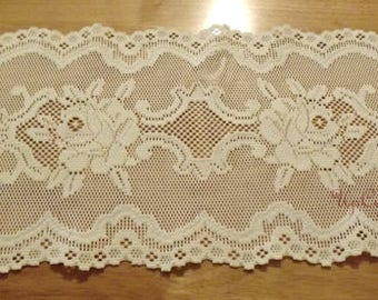 Vintage Lace Dresser Scarf Farmhouse Collection Shabby Chic Winter White Wedding Decor Ships Free in USA Next Day