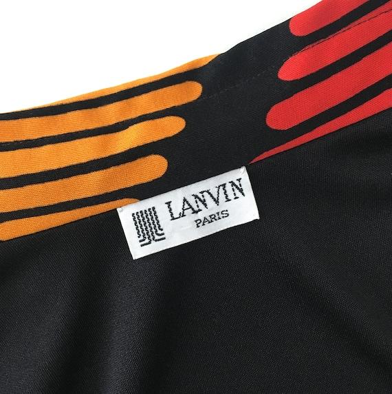 Vtg LANVIN SHIRT DRESS Graphic Abstract 1960s 197… - image 3