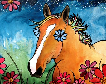 horse painting, horse gifts, animals, horses, trending now, palomino, robiniart, Farmhouse Decor, Best Selling Items, Best Selling Art, Top