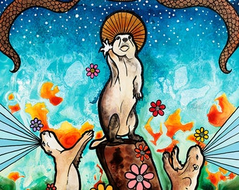 Prairie Dog, Trending Now, Trending Art, Top Selling Items, Southwest Decor, Best Selling Items, Top Selling Art Items, Quirky, Art Print