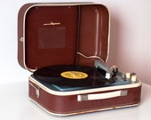 "Turntable Record player  portable record player working ""Youth"" 3 speed rare vintage record player playerRetro made in 60s - Working"