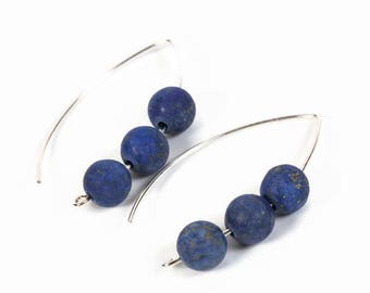 blue lapis earrings, blue gemstone earrings, blue long earrings, lapis lazuli earrings, lapis lazuli earrings silver, long silver earrings