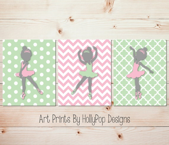 Kids room decor Girls room wall art Ballerina nursery art Baby | Etsy