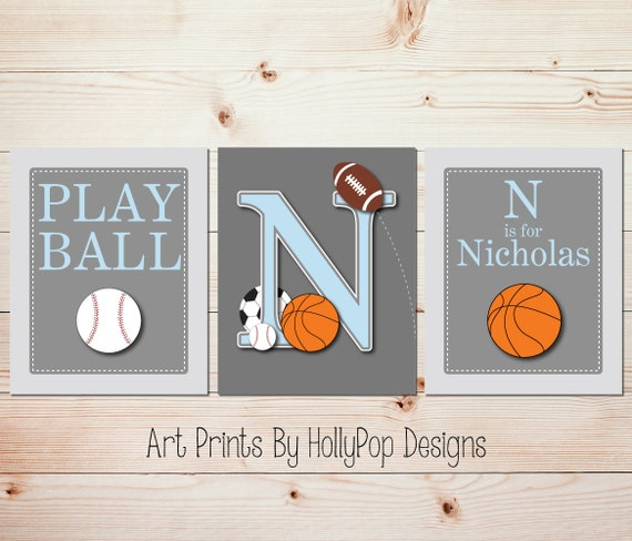 Boy Nursery Prints Baby Boy Bedroom Decor Toddler Boys Room Wall Art Sports  Art Prints Play Ball Wall Art Basketball Decor Kids Room #1117