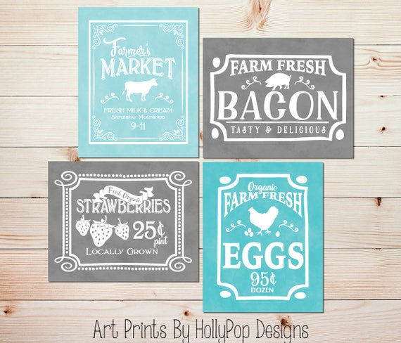 Farmers Market Kitchen Art Kitchen Art Prints Farmhouse Kitchen Posters Cafe Kitchen Decor Cafe Art Farm Art Vintage Inspired Art 1798