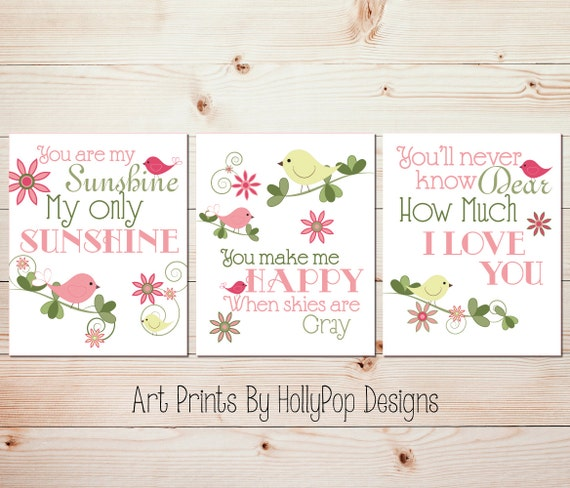 baby girl nursery art baby wall prints childrens wall decor etsy