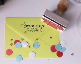 Hand Lettered Custom Address Stamp