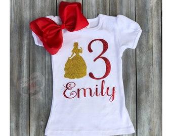 Belle Shirt Birthday Shirtbelle Shirtdisney Disney Shirtsbeauty And The Beast Daney